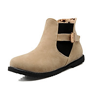 Women's Boots Fashion Boots / Combat Boots / Round Toe Office & Career / Dress / Casual Low Heel Buckle / Gore