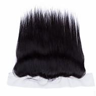10''-20'' Svart Håndknyttet مستقيم Menneskehår stenging Medium brun Sveitsisk blonde 30-90g gram Gjennomsnitt Cap Size