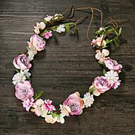 Damen Stoff Kopfschmuck-Hochzeit Kränze 1 Stück Rosa Blume 50cm