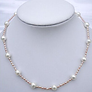 Necklace Strands Necklaces Jewelry Wedding / Party / Daily / Casual Fashion / Adorable Pearl Light Pink 1pc Gift