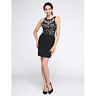 TS Couture® Cocktail Vestito A tubino Con decorazione gioiello Corto / mini Chiffon / Tulle con Con applique / Con strass