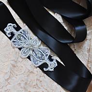 Satin Wedding / Party/ Evening / Dailywear Sash - Beading / Appliques / Pearls Women's Sashes