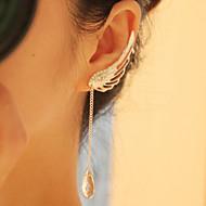 드랍 귀걸이 크리스탈 패션 유럽의 합금 윙 U 자형 실버 보석류 용 일상 캐쥬얼 1 쌍