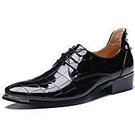 Men's Oxfords Spring/Summer/Fall/Winter Patent Leather Office & Career/ Party & Evening Casual Big Size Black/Red
