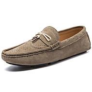 Lapos-Lapos-Női cipő-Vitorlás cipők-Alkalmi-Bőr-Fekete / Kék / Barnás szürke / Khaki