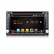 4 코어 2 딘은 4.4 차 DVD 플레이어는 유니버설 플레이어 BT 대시 3g 와이파이에서 네비게이션 자동차 스테레오 라디오 GPS를 6.2''android
