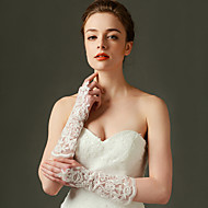 Top-quality Elbow Length Fingerless Glove Lace Bridal Gloves with Sequins / Beading / Embroidery / lace