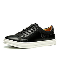 Men's Sneakers Fall Comfort Leather Athletic / Casual Flat Heel Others Black / Blue / Brown Fitness Training