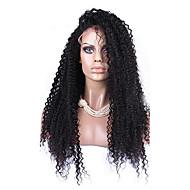 """8 """"-12"""" 120% brasileña rizada del frente del cordón peluca rizada humano pelucas de pelo color natural del pelo del bebé"""