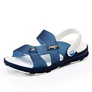 Boy's Sandals Summer PU Casual Flat Heel Others Blue Green Royal Blue Walking