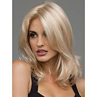 parrucca piena resistente al calore sexy bionda di media lunghezza