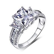 Široké prsteny Prsteny s kamenem Módní Stříbro Zirkon Bílá Šperky Pro Svatební Párty Halloween Zásnuby Denní Ležérní 1ks