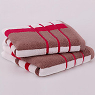 Fashion Red And Blue Stripes Short Cotton Towel
