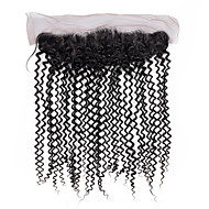 10inch to 20inch Black Hand Tied Curly Human Hair Closure Medium Brown Swiss Lace about 50g gram Average Cap Size