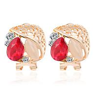 Forme Pointue Bijoux Femme Mode Mariage Soirée Quotidien Décontracté Alliage 1 paire Rouge Bleu