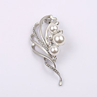 European and American fashion zircon Pearl Brooch Series 030