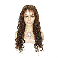 EVAWIGS 16-26 Inch 4# Medium Brown Color  Natural Wavy Indian Remy Hair Full Lace Wig   With Baby Hair