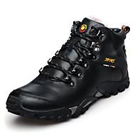 Spor Ayakkabısı-Açık Hava-Rahat-Deri-Düz Topuk-Siyah Kahverengi Sarı-Erkek