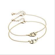 Armbänder Ketten- & Glieder-Armbänder Aleación Herzform Liebe Herz Modisch bezaubernd Alltag Normal Schmuck Geschenk Goldfarben,1 Paar