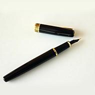 ペン 万年筆,メタル ブラック