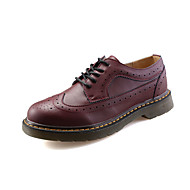 Women's Oxfords Fall Leather Casual Low Heel Others Black Red White Walking