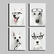 Animal Impressão em tela 4 Painéis Pronto para pendurar,Vertical