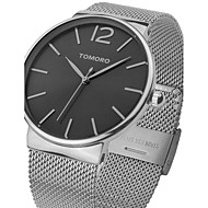 Fashion Luxury brand TOMORO Watches men Stainless Steel Mesh strap Quartz-watch Ultra Thin Dial Clock man TMR0816