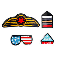Navy and Red Brooches Personality Daily Women/Men 1set
