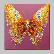 dipinti ad olio animale farfalla dipinte a mano su tela di canapa moderna arte della parete, con telaio allungato pronto da appendere