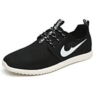 Running Shoes Women's Shoes Tulle Spring / Summer Comfort Sneakers Casual Flat Heel  Black / Gray Walking