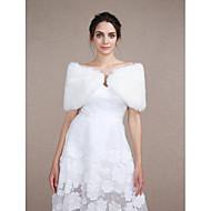 Wedding  Wraps / Fur Coats / Shawls / Fur Accessories Shrugs Sleeveless Faux Fur / Feather/Fur Ivory Wedding / Party/Evening