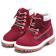 Girls' Shoes Outdoor/Athletic/Casual Suede Boots Spring/Summer/Fall/Winter Combat Boots Flat Heel Blue / Brown / Red