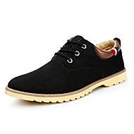 Men's Sneakers Spring / Fall Comfort Suede Casual Flat Heel  Black / Blue / Brown Walking