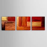 Pintados à mão Abstracto / Paisagem / Vida Imóvel / Lazer Pinturas a óleo,Modern / Pastoril / Estilo Europeu 3 Painéis TelaHang-painted