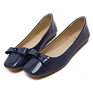 Women's Flats Fall Ballerina / Square Toe Patent Leather Casual Flat Heel Bowknot Black / Blue / Pink Others