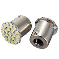 10pcs 1156 22smd lysdioder 1206 smd blinklys Ryggelys bil LED lampe (DC12V)