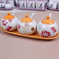 Ceramic Dressing Pots  Orange