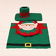 3pcs elf kerstmis toiletbril tank tapijt decoratie dekking voor thuis badkamer benodigdheden