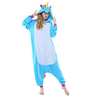 Kigurumi Pijamale noul Cosplay® Cal Zburător Unicorn Leotard/Onesie Festival/Sărbătoare Sleepwear Pentru Animale Halloween Albastru Peteci