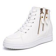 נשים-נעלי ספורט-דמוי עור-פלטפורמה / קריפרס-שחור / לבן-משרד ועבודה / קז'ואל-פלטפורמה