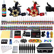 Solong Tattoo Beginner Tattoo Kit 2 Pro Machines Power Supply Needle Grips Tips US Dispatch
