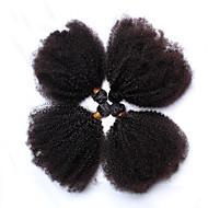 Human Hair vævninger Mongolsk hår Kinky Curly 12 måneder 4 Dele hår vævninger