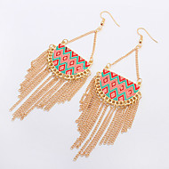 Europe Style Luxury Semicircle Drop Earring 18k Gold Plated Chain Earrings Long For Women Fine Jewelry