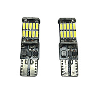 2PCS 20W VW Golf LED License Plate Lamp Can-bus Error Free Resistance Gold LED Width Lamp LED Interiror Lamp