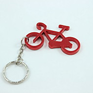 Fahrrad-Stil Schlüsselbund& Flaschenöffner, Aluminiumlegierung 10 x 4 x 0,2 cm (4,0 x 1,6 x 0,1 Zoll) zufällige Farbe