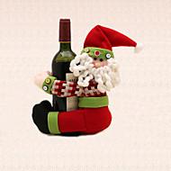 1pc Χριστούγεννα λωρίδα Άγιος Βασίλης μπουκάλι κρασί προμήθειες κόμμα τραπέζι κάτοχος πετσέτα διακόσμηση του σπιτιού δείπνο