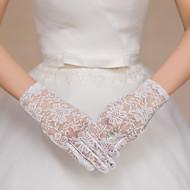 Polslengte Vingertoppen Handschoen Kant Tule Bruidshandschoenen Feest/uitgaanshandschoenen Lente Zomer Herfst Winter Kant