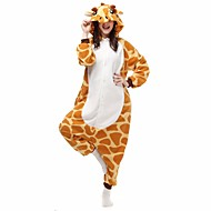Kigurumi Pyjamas Giraffe / Fledermaus Gymnastikanzug/Einteiler Fest/Feiertage Tiernachtwäsche Halloween GelbGeometrisch / Tiermuster
