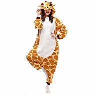 Kigurumi Pyjamas Giraf Flagermus Trikot/Heldragtskostumer Festival/Højtider Nattøj Med Dyr Halloween Gul Geometrisk Dyremønster Flanel