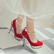 Club cipő Light Up Shoes-Stiletto-Női cipő-Magassarkúak-Szabadidős Irodai Alkalmi-Bőrutánzat-Fekete Piros Fehér